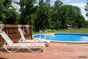 above ground pool deck